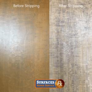 Wood Panel Refinishing in Historic Dallas High-Rise Condo