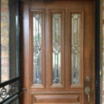 East Dallas Texas Front Wood Door Before Surfaces Rx Refinishing