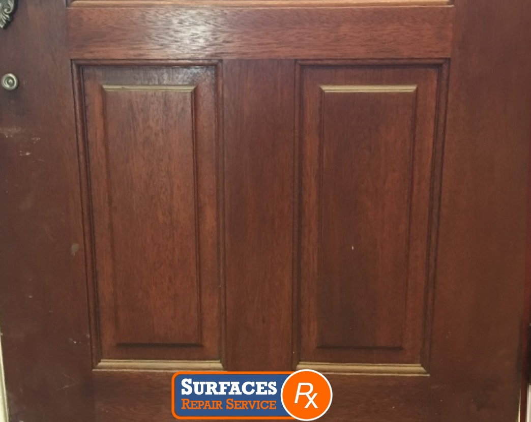 Interior Door Before Refinishing by Surfaces Rx NE Dallas