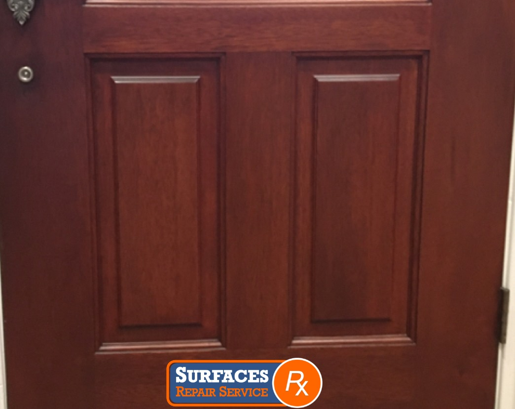 Interior Door After Refinishing by Surfaces Rx NE Dallas