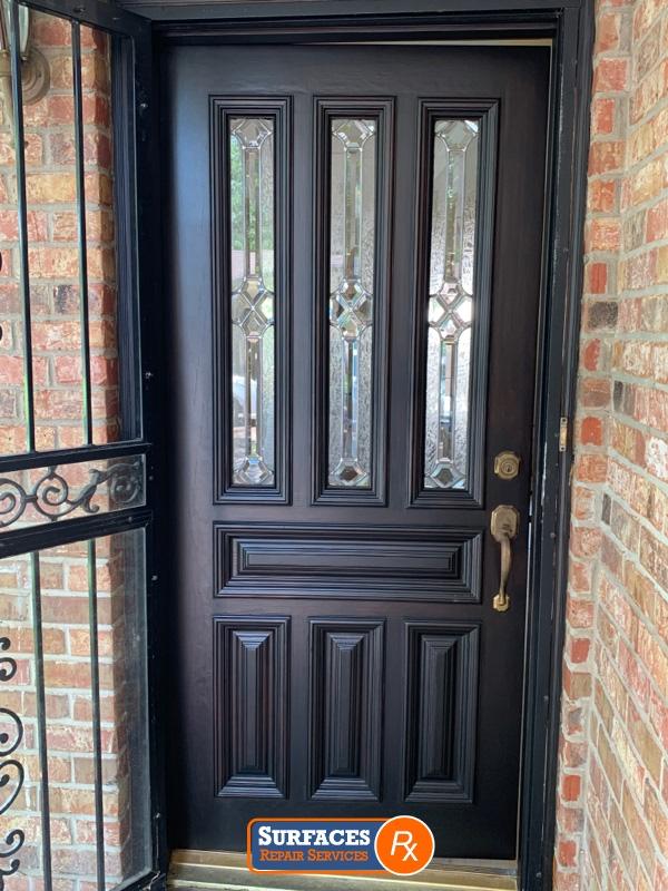 Exterior Door After Surfaces Rx-Refinishing Dallas TX