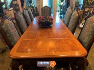 Dining Room Tabletop After Refinishing by Surfaces Rx