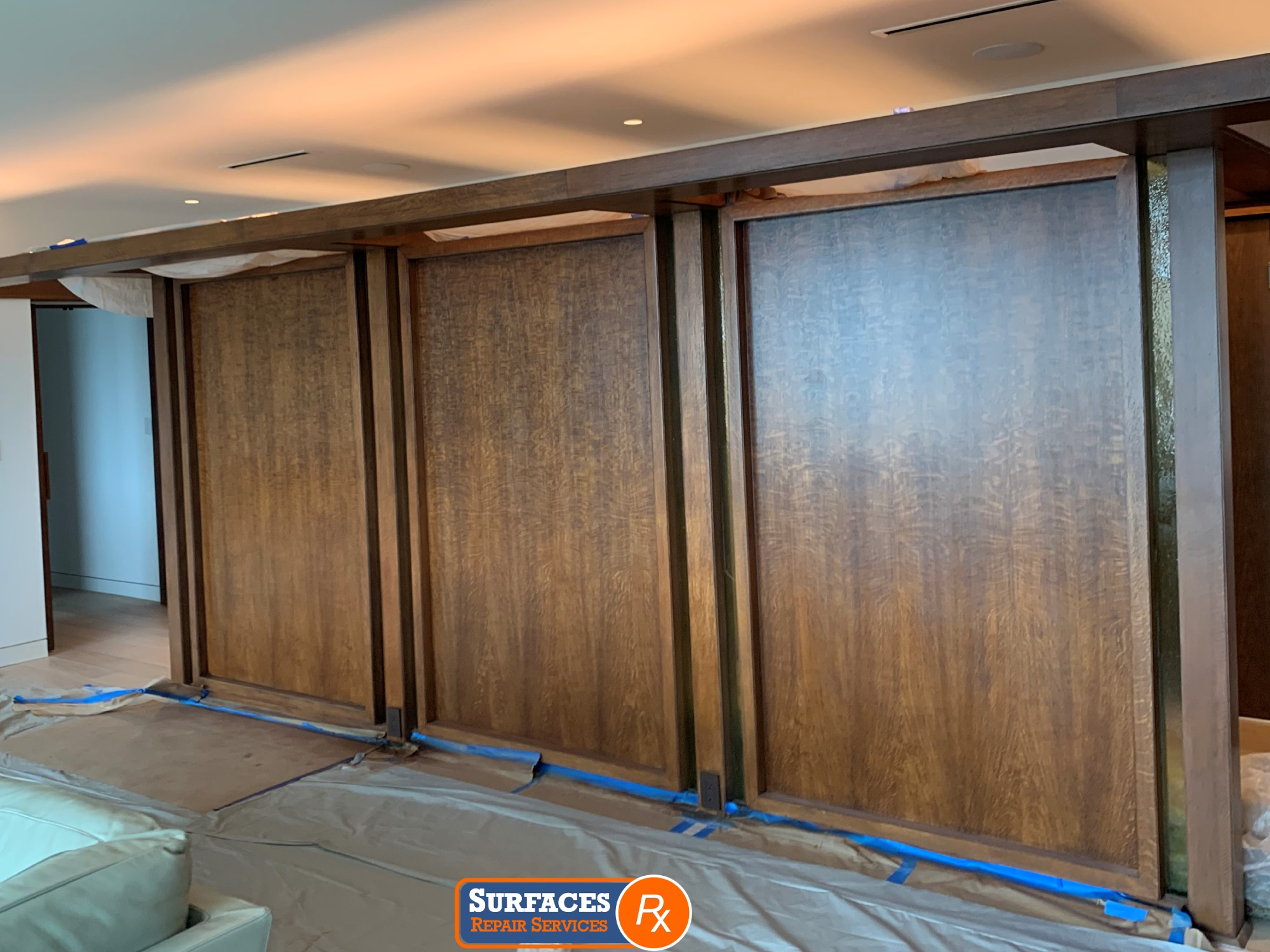 3525 Turtle Creek High-Rise Condo Millwork After Refinishing by Surfaces Rx