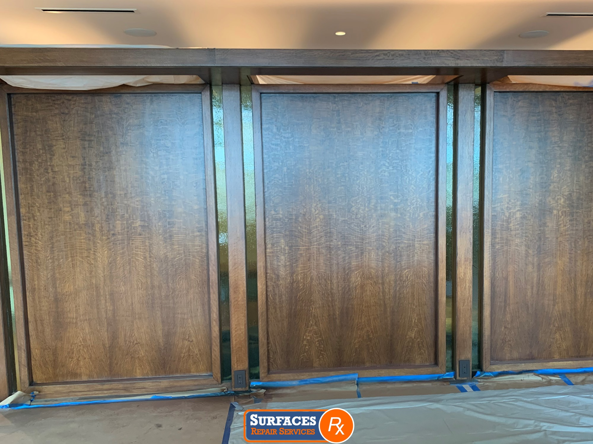 3525 Turtle Creek High-Rise Condo Millwork After Refinishing by Surfaces Rx Centered