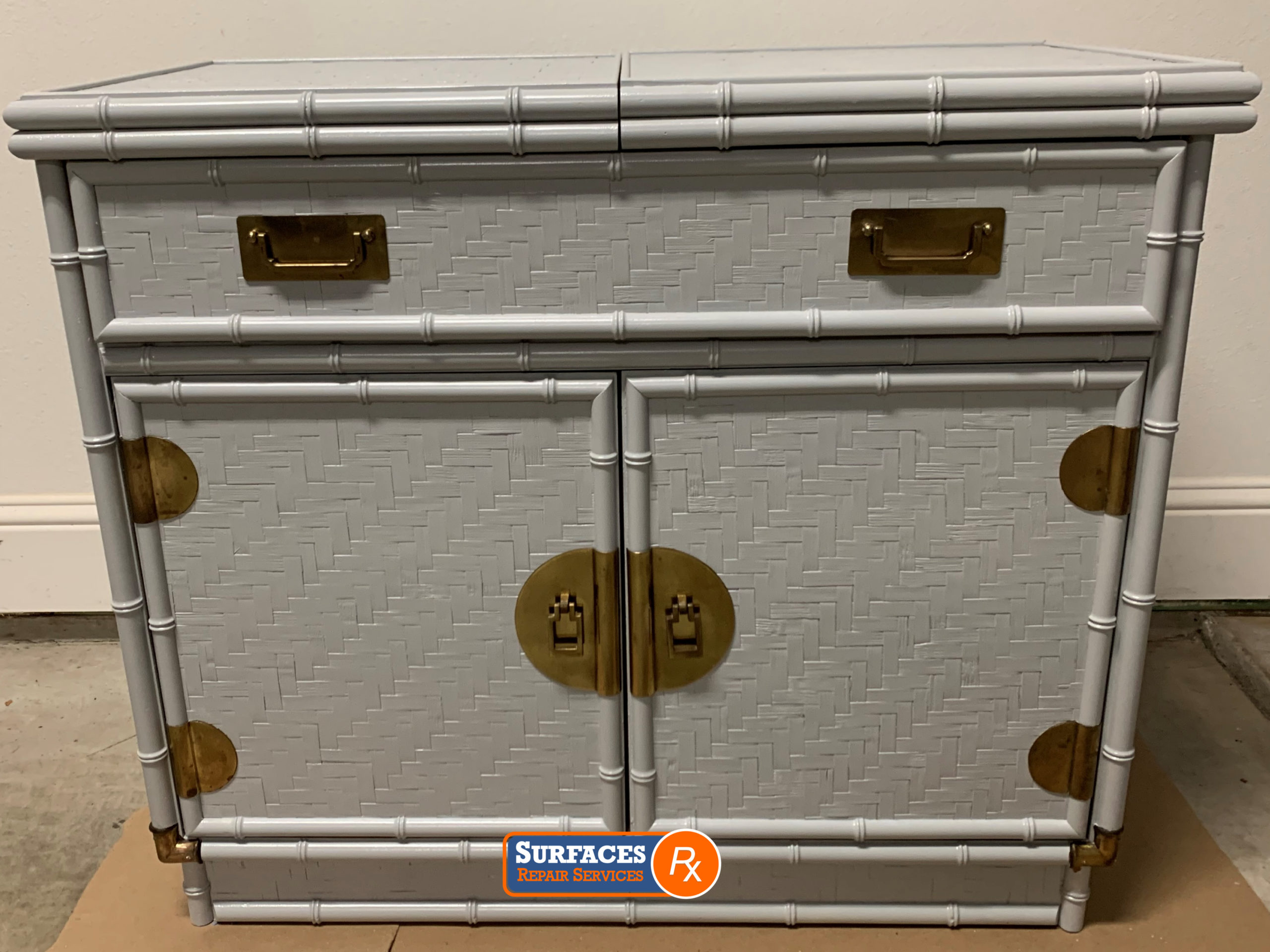 Antique-Rattan-Chest-After-SurfacesRx-Refinishing
