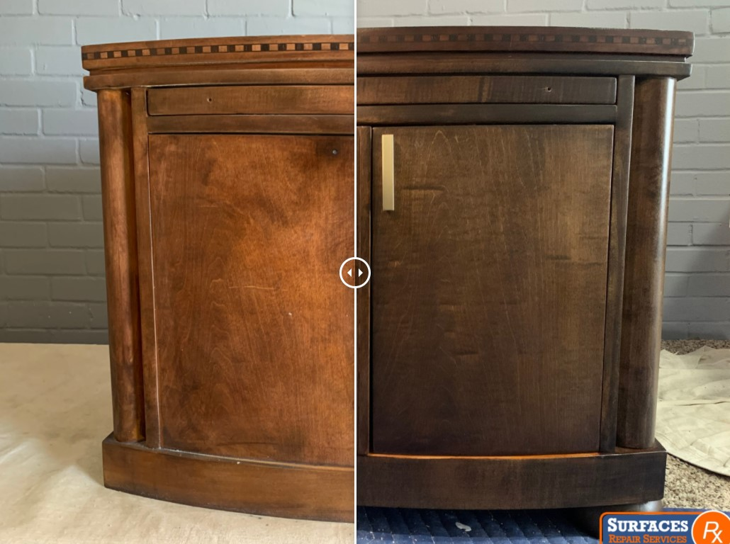 Nightstand Before and After Surfaces Rx Refinishing