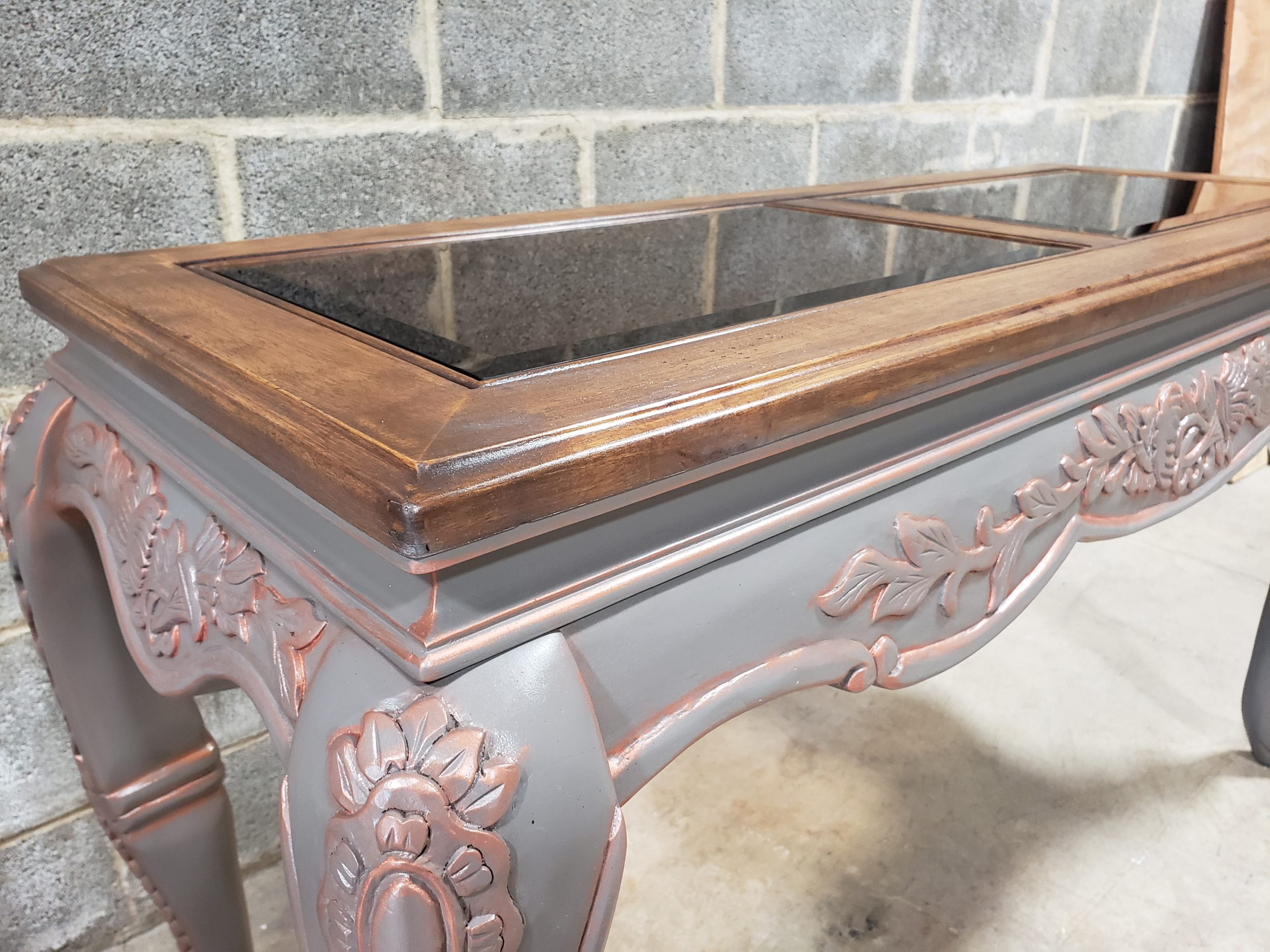 Hand Painted and Refinished Console Table