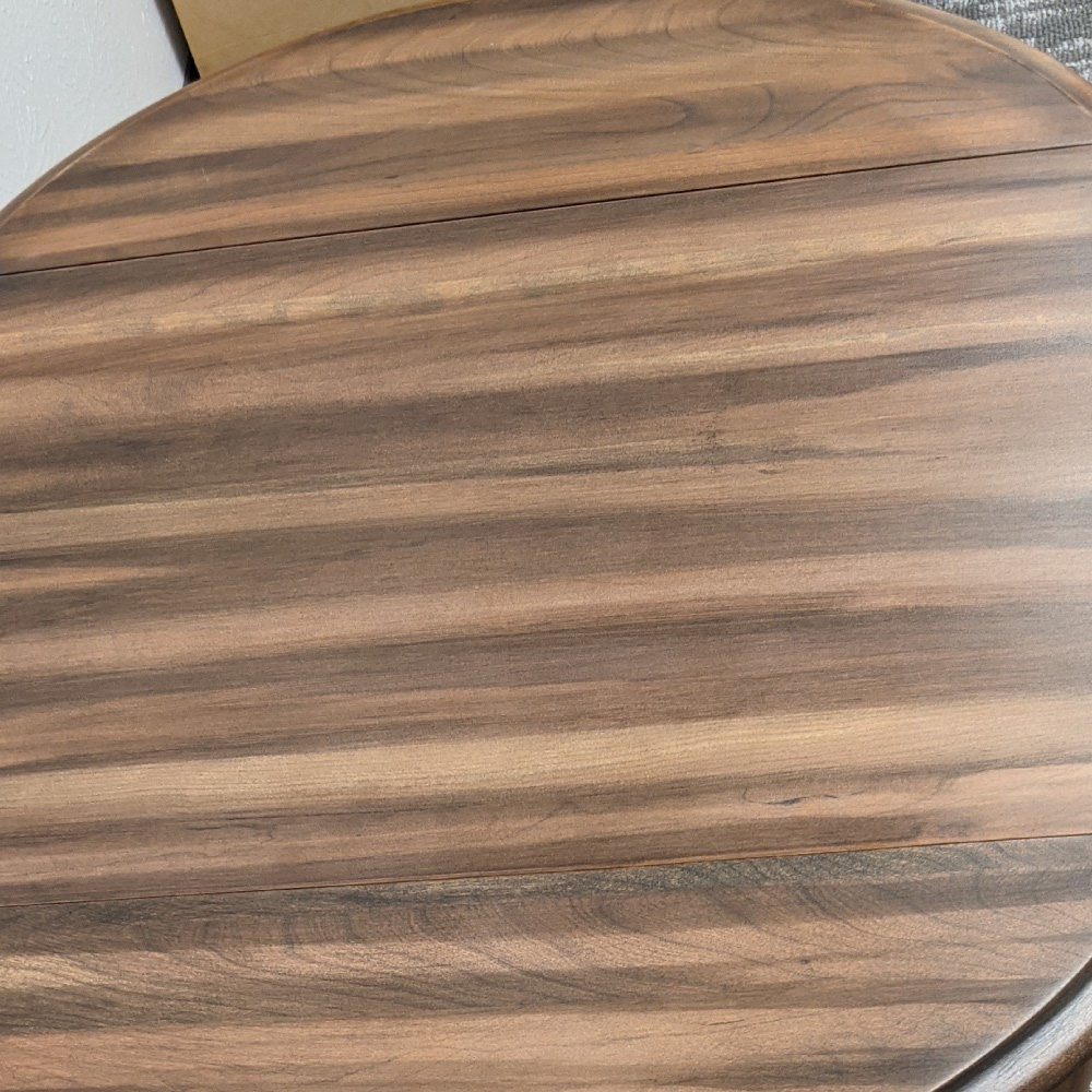 After Dallas Furniture Redesign Drop Leaf Table with New Walnut Finish