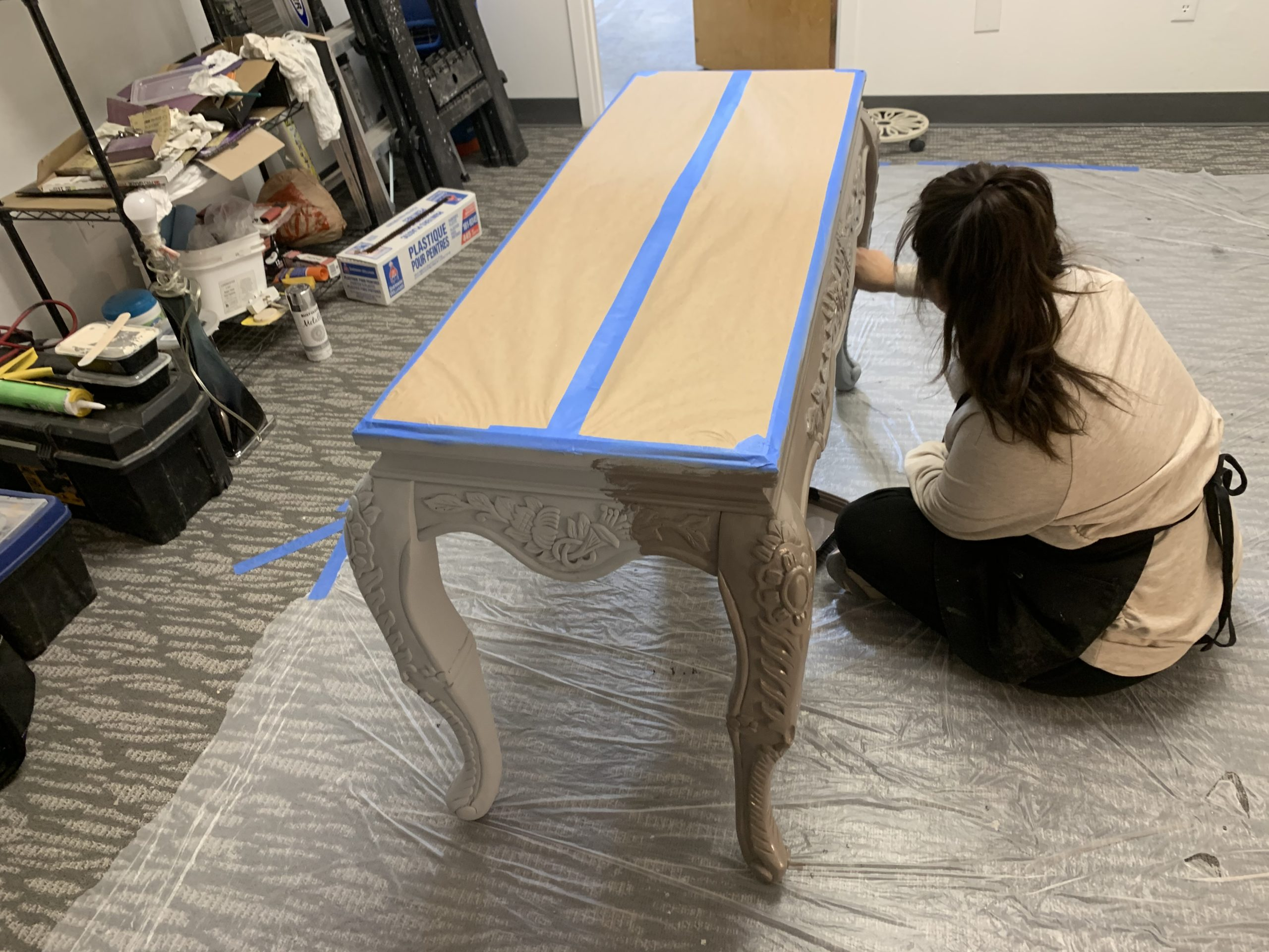 Furniture Redesign Hand-Painting Console Table