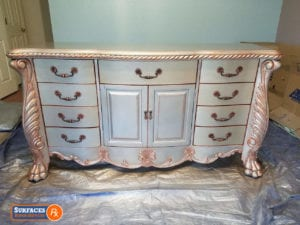 After Dresser Redesign and Hand-painted