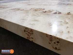 After Mappa Burl Veneer Finish by Surfaces Rx - Dallas TX