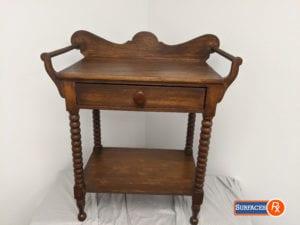 Antique Refinished Bobbin Side Table For Sale Dallas, TX