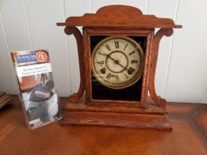 Before Surfaces Rx Vintage Mantel Clock Faux Refinishing