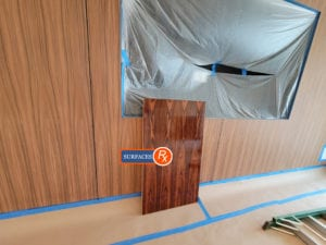 New Wood Veneer Paneling Ready for Finishing Dallas Texas