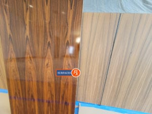 New Wood Veneer Panel Sheer Matching During Finishing