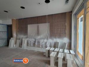 New Wood Veneer Panels Before Finishing