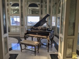 Wm Knabe & Co Louis XV Style Grand Piano Before Refinishing by Surfaces Rx Dallas TX in Terrace