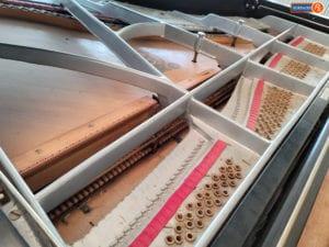 Wm -Knabe Grand Piano During Restoration Dallas Texas