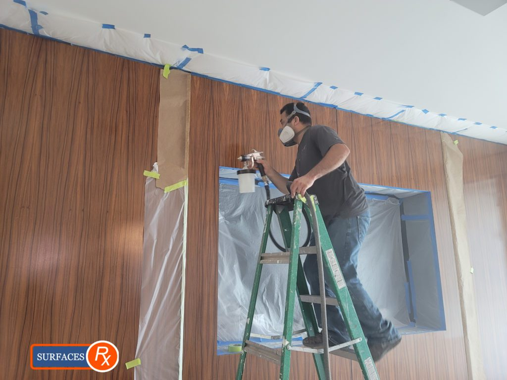 During Luxury Wall Panel Millwork Finishing Dallas Texas