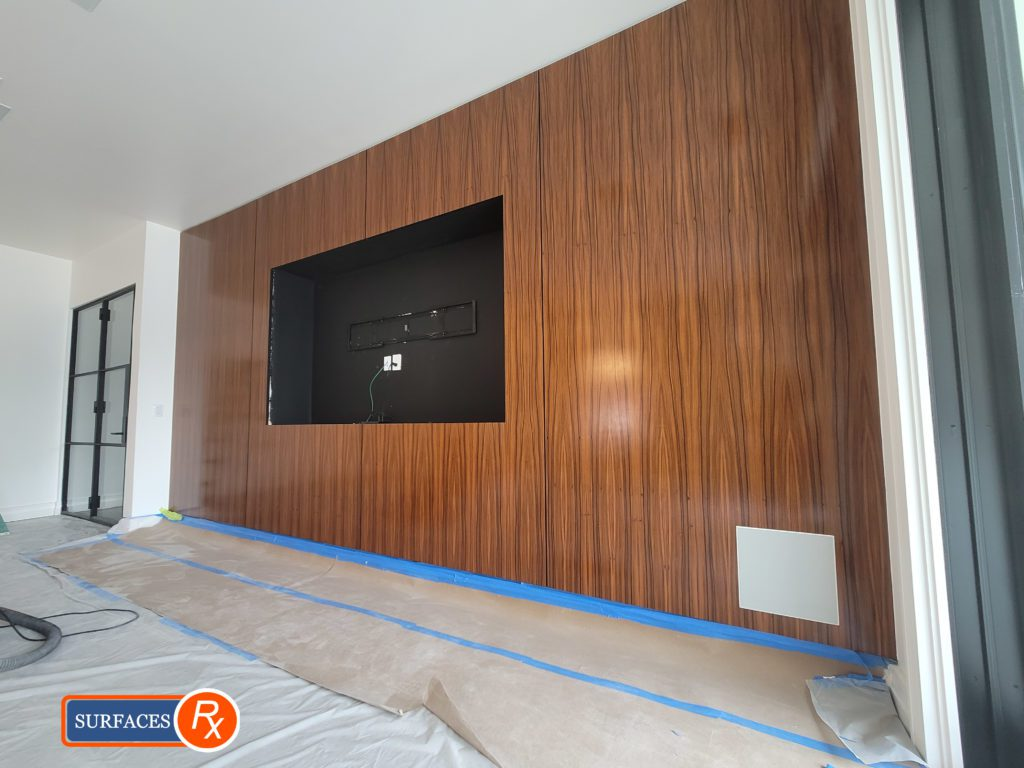 After Luxury Wall Panel Millwork Finishing Dallas Texas