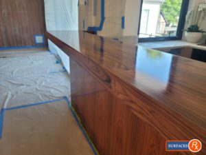 Wet Bar Wood Millwork Finishing by Surfaces Rx