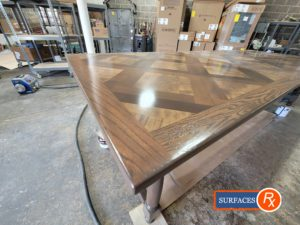 Parquetry Antique Dining Room Table After Refinishing by SurfacesRx